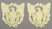 2 CAST IRON EAGLE DOOR KNOCKERS