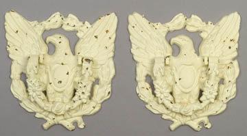 2 CAST IRON EAGLE DOOR KNOCKERS