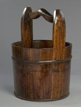 Wood Water Bucket Garden Planter