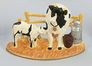 CAST IRON COW DOOR STOP / MILK / PAIL