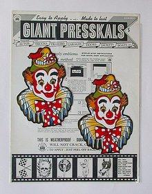 Presskals Circus Decals Art