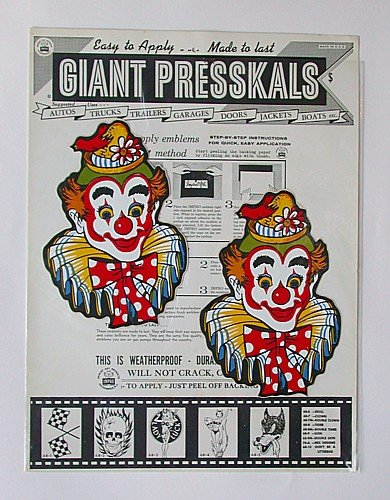 Presskals Circus Decals Art