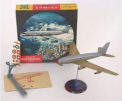 VINTAGE BOEING 707 MODEL AIRPLANE JET TOY