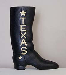 CAST IRON TEXAS BOOT DOOR STOP / DOORSTOP