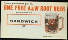 A&W Root Beer Soda Coupon