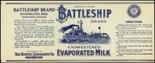 Battleship Milk Label 1919