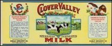 Clover Valley Milk Label