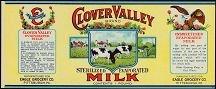 Clover Valley Milk Label