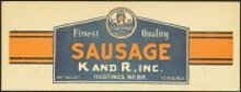 K&R Sausage Sign - 1940s Countrymaid