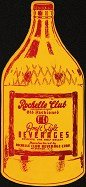 Rochelle Club Fan Advertising Sign 1920s