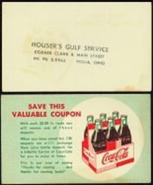 Vintage COCA COLA SODA Coupon / fancy 1940s