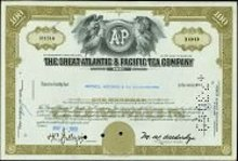 Great Atlantic Pacific Tea Stock certificate