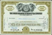 Great Atlantic Pacific Tea Stock certificate