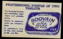 Vintage SOOVAIN ASPIRIN MEDICINE Envelope pack
