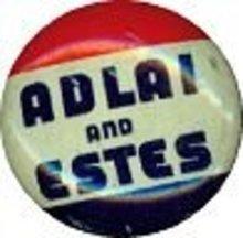VINTAGE 1956 ADLAI STEVENSON ESTES POLITICAL PINBACK PIN