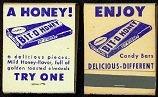 VINTAGE 1949 BIT-O-HONEY MATCHBOOK CANDY