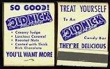 VINTAGE 1949 OLD NICK MATCHBOOK CANDY