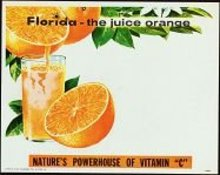 VINTAGE 1950S FLORIDA ORANGE JUICE SIGN