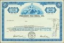 Vintage PRECISION POLYMERS STOCK Certificate