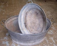 Antique Steel Washtub
