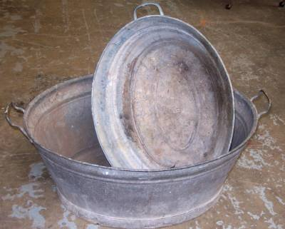 Antique Steel Washtub