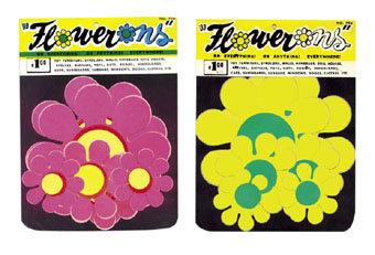 VINTAGE FLOWERONS PEEL STICK FLOWER DECALS