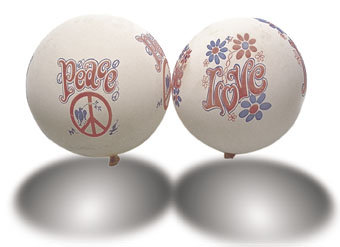 Peace & Love Balloons 1960s
