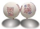 Peace & Love Balloons 1960s