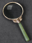 JADE HANDLE MAGNIFYING GLASS / NEW