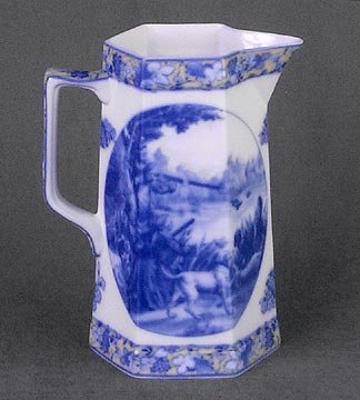 PORCELAIN HUNTING WATER PITCHER NEW