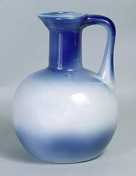 PORCELAIN BLUE WHITE WATER PITCHER / NEW
