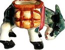 VINTAGE OCCUPIED JAPAN DONKEY STATUE FIGURINE