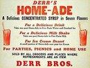 Derr Bros. Home-Ade Syrup Sign