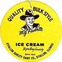 Hopalong Cassidy Ice Cream Fan Sign
