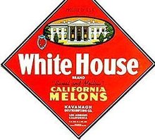 VINTAGE WHITE HOUSE MELONS DIAMOND SIGN