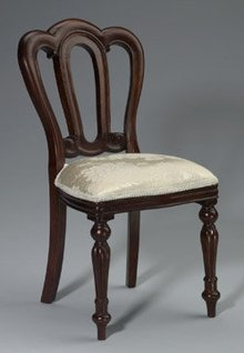 DOLL HOUSE BROCADE CHAIR / NEW