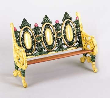 CAST IRON DOLL BENCH  / NEW