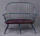 DOLL HOUSE BLUE HOOPBACK WOOD BENCH  / NEW