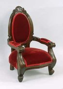 DOLL HOUSE RED CAMEO BACK CHAIR  / NEW