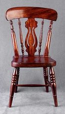 DOLL HOUSE WOOD FIDDLEBACK CHAIR  / NEW