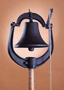 CAST  IRON BLACK DINNER BELL / NEW