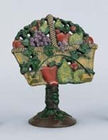 Fruit Basket Cookbook Stand, Cast Iron