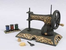 CAST IRON TOY SEWING MACHINE STATUE FIGURE /
