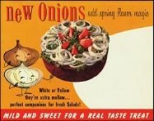 VINTAGE BROWN ONION VEGETABLE GROCERY STORE