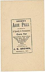 Brown's Ague Medicine Label / Vintage Fever