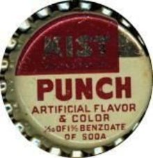 Kist Soda Bottle Caps - Punch