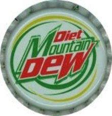 Diet Mountain Dew Soda Bottle Caps