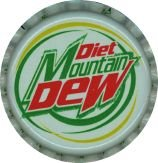Diet Mountain Dew Soda Bottle Caps
