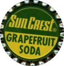 10 VINTAGE SUN CREST GRAPEFRUIT SODA BOTTLE CAPS