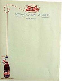Pepsi Cola Soda Menu Restaurant Sheets